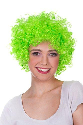 Afro Perücke Wig locken und bunt für Damen und Herren auf rosa, grün, orange, blau, gelb, rot, schwarz, violett auf Halloween, Party, Geburstag,Weinachtsfest,Party zum Neues (Schwarz Orange Rot Kostüm Ist Und Halloween Das Neue)