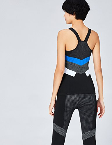FIND Sport Top Damen Schwarz (Black/Blue/White)