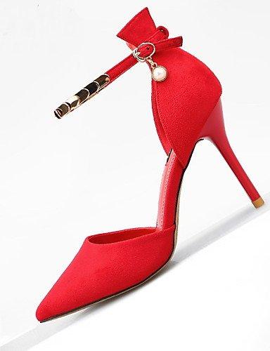 WSS 2016 Chaussures Femme-Bureau & Travail / Habillé / Décontracté-Multi-couleur-Talon Aiguille-Talons / A Plateau / Bout Pointu-Talons-Cuir black-us6.5-7 / eu37 / uk4.5-5 / cn37