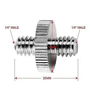 1-4-Zoll-Mnnlich-auf-1-4-Zoll-Mnnlich-Schraube-1-4-Zoll-Mnnlich-auf-3-8-Zoll-Mnnlich-Gewinde-Schrauben-Adapter-fr-Kamera-Stativ-Monopad-Kugelkopf-Licht-Standplatz-4-Stck