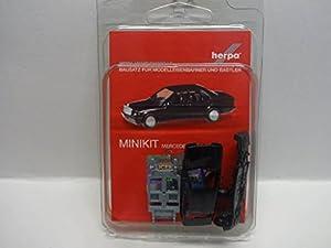 Herpa 012409-005Minikit: Vehículo Mercedes Benz 190E en Miniatura, Color Negro