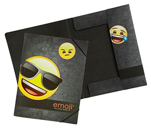 Under cover Emoji, Schultertasche (nero) - 10112815 Gummizugmappe A4