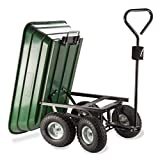 Probache - Chariot remorque de Jardin Vert basculant