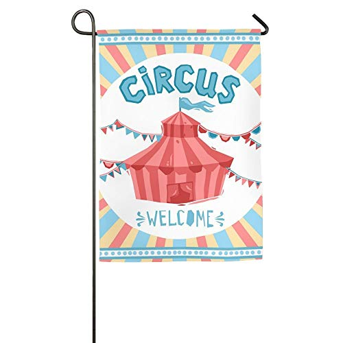 HujuTM Welcome to The Circus Home Garden Indoor/Outdoor Flags 18