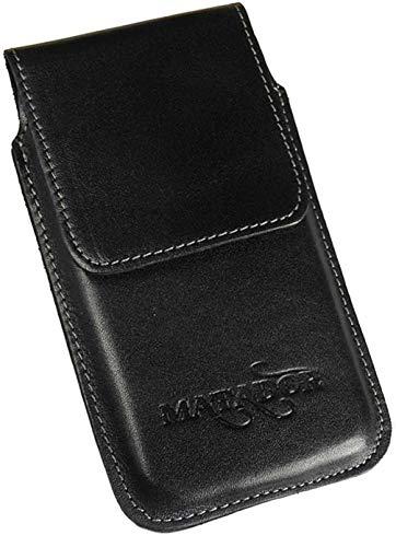 MATADOR Leder-Case Gürteltasche Vertikaltasche Gürtelclip/Schlaufe Kompatibel mit iPhone XR Magnetverschluss (Schwarz) Iphone Leder-holster