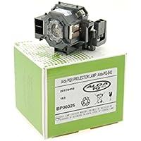 Alda PQ® Premium, Lampe de projecteur compatible avec EPSON EB-140W, EB-410W, EB-410We, EMP-400, EMP-400e, EMP-400W, EMP-410W, EMP-410We, EMP-822, EMP-822H, EMP-83, EMP-83C, EMP-83H, EMP-83HE, EMP-X56, EX90, PowerLite 400W, PowerLite 410W, PowerLite 822p, PowerLite 83+, PowerLite 83c projecteurs, Alda PQ® Lampe avec logements