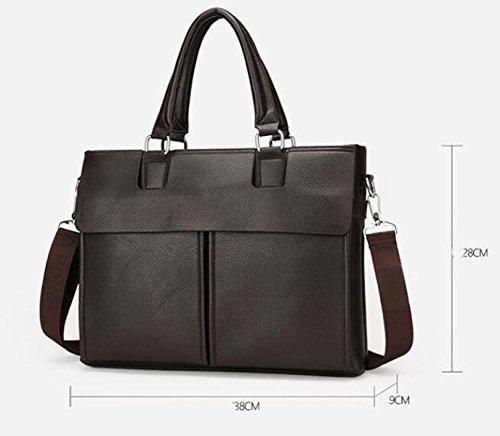 Herren Geschäfts Portable Aktenkoffer Groß-Kapazität Einzigen Schulter Diagonalen Cross-Paket Computer Tasche Black