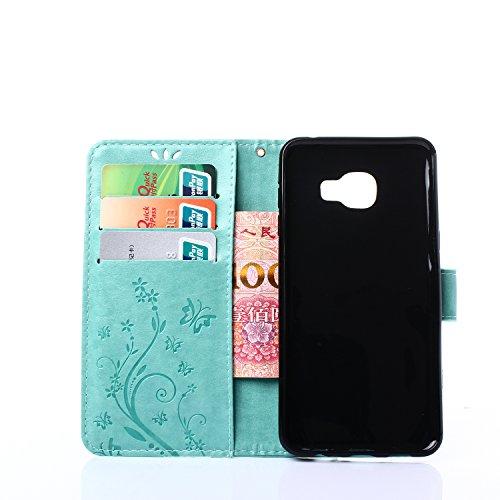 Meet de Case pour Apple iphone 7 PU Housse, papillon print / Folio Wallet / flip étui en cuir / Pouch / Case / Holster / Wallet Style de Coque pour téléphone portable Étui Porte-monnaie en cuir étui d turquoise