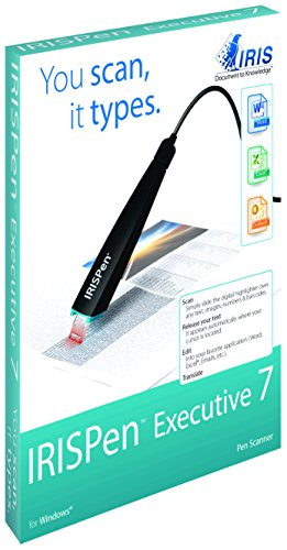 IRIS 457887 Executive 7 IRISPen USB Pen-Scanner für Texterkennung schwarz (Digital-stift-scanner)