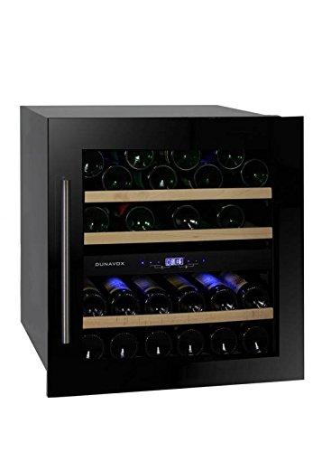 Dunavox - 'DAB-36.80DB', Weintemperierschrank für 36 Flaschen, 2 Zonen, 5 - 22°C, Einaugerät