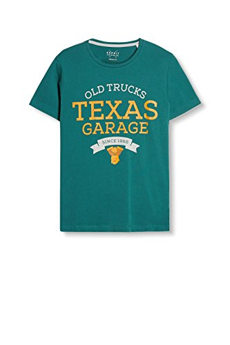 ESPRIT Herren T-Shirt Grün (Emerald Green 305)