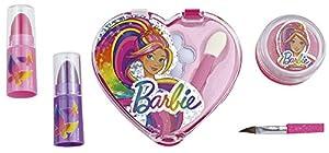 Happy People 52007Barbie Makeup Set corazón de Accesorios para Look para niñas, Rígida, Make Up