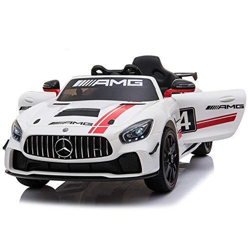 BC BABY COCHES Coche electrico para niños 12V con Mando - Mercedes AMG-GT 4 Coche con Batería 12v para niños y niñas con Mando teledirigido para Padres