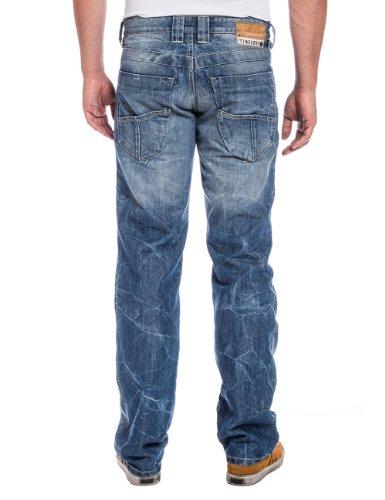 Timezone - Jeans Droit - Homme Bleu (authentic mid blue wash)