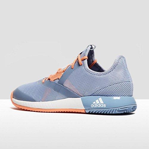 adidas Damen Adizero Defiant Bounce Tennisschuhe Blau (Blue/Footwear White/Chalk Coral)