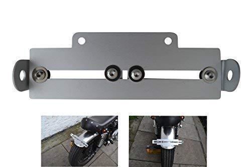 Moto Soporte de Matrícula Ajustable Placa de Matrícula Soporte Ajuste Universal