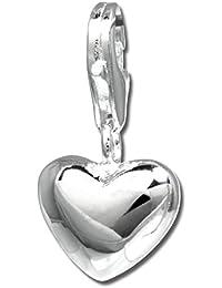Colgante brillante SilberDream 925 de plata de ley colgante para pulsera cadena pendientes FC3144