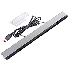 KIMILAR Replacement Wired Infrared LED Sensor Bar for Nintendo Wii & Wii U with Clear Stand