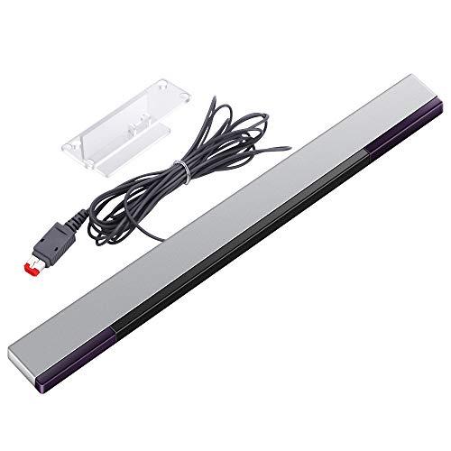 KIMILAR Wii Sensorleiste Ersatz Infrarot-LED-Sensor Bar für Nintendo Wii & Wii U, verkabelt enthält klare Haltung [video game] [video game]