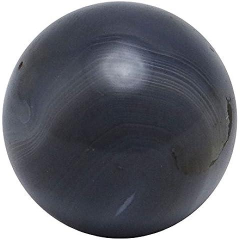 Harmonize La Agata del cordino Arancione sfera della sfera di equilibrio Arte Reiki Curativo di pietra decorazione della tavola NEGRO Bolsa del regalo Ágata (Gray)