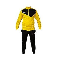 Idea Regalo - Tuta Legea M1110 Messico da Uomo Completa Giacca e Pantalone Training Sportiva (M, Giallo-Nero)