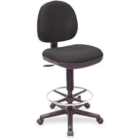 Lorell Llr-80008 Pneumatic Adjustable Multi-task Stool - 24 X 24 X 51 - Black Seat by Lorell