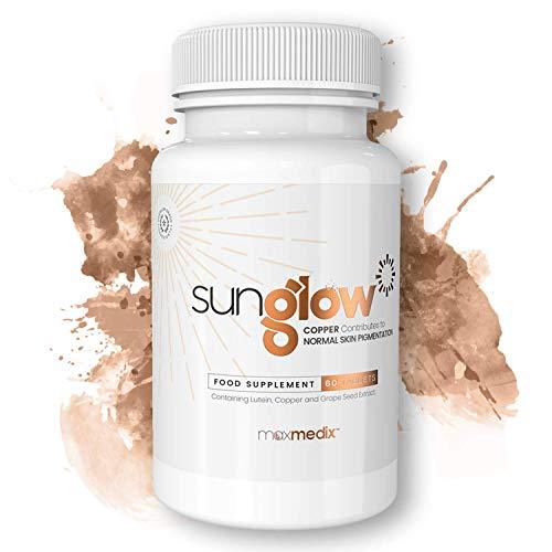 Sunglow Selbstbräuner Kapseln | Unterstützen die natürliche Bräunungsfähigkeit des Körpers | enthält Carotinoid-Vitamine | Natürliche Inhaltsstoffe | Schönheitsmittel | 60 Kapseln