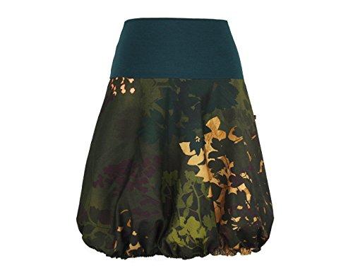 dunkle design Ballonrock Jeans Jeansrock Farben nach Wahl Grün Tarn