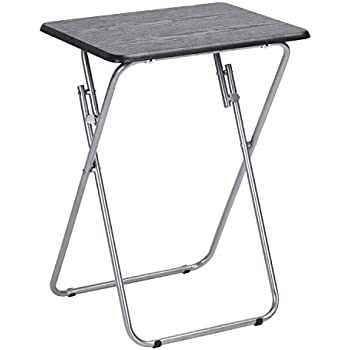 Aingoo Folding Table Snack Table Multi Function Dinner Desk Wood And Metal  Small Table For