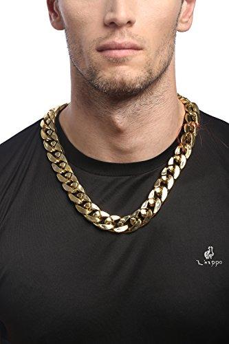 DRESS ME UP - RH-012-gold Kette Halskette Gangster Hip-Hop Rap OG Proll Halloween Karneval golfdarben