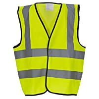 Hi Vis Waistcoat - Childrens Sizes - Orange or Yellow (Age 4-6, Yellow)