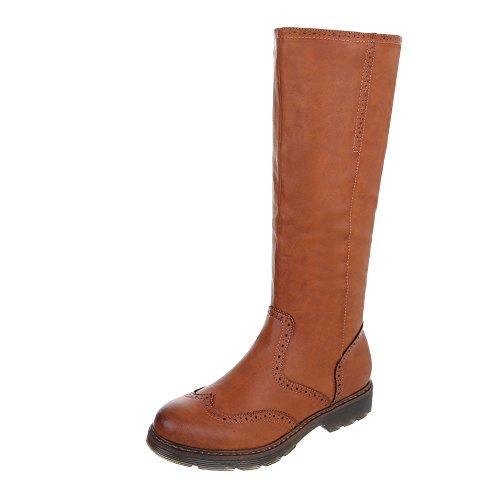 Chaussures femme Bottes et bottines Bloc Bottes classique Ital-Design Braun