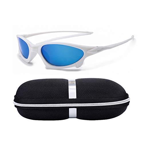 Taiyangcheng Hd polarisierte Sonnenbrille Mode männer oval Schutz Outdoor Sonnenbrille,weiß Blau