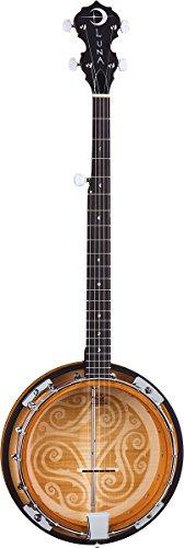 Luna Guitars BGB CEL 5 Banjo, keltisches Design, mit 5 Saiten