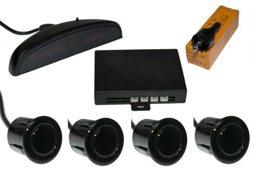 Tecwo 18 mm Rainbow Einparkhilfe 4 Sensoren (schwarz)