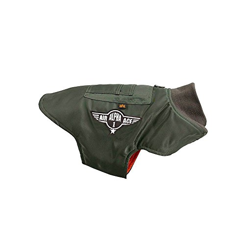 ALPHA Industries Dog Nylon Flight Jacket olive, Größe:XXXL