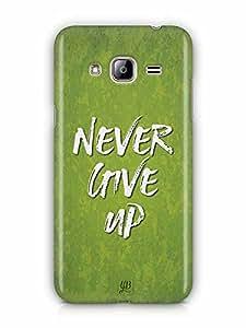 YuBingo Never Give Up Designer Mobile Case Back Cover for Samsung Galaxy J3 2016