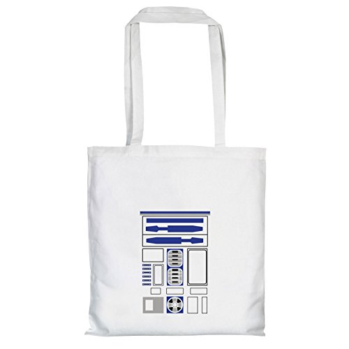 TEXLAB - R2 D2 Uniform - Stoffbeutel, weiß