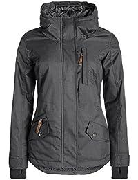 DESIRES Bellissa Damen Winterjacke Jacke mit hochabschließendem Kragen und Kapuze aus hochwertiger Materialqualität