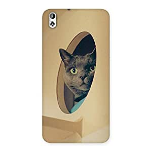 NEO WORLD Exos Kitty Back Case Cover for HTC Desire 816