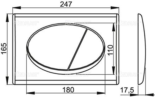 WC Vorwandelement für Trockenbau 85 cm inklusive Betätigungsplatte Chrom Matt Typ Oval Unterputzspülkasten Spülkasten Wand WC hängend Schallschutz