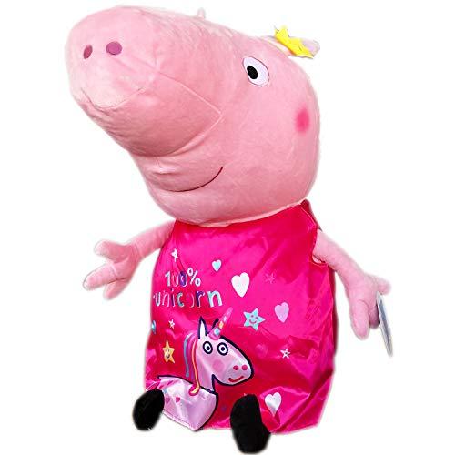 JuniorToys Peppa Pig XXL Plüschfigur 65cm Peppa Wutz liebt Einhörner 100% Unicorn