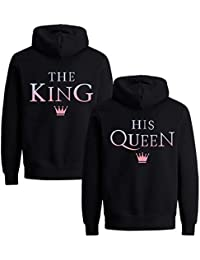 Couples Shop King Queen Pärchen Pullover Hoodie Set für 2