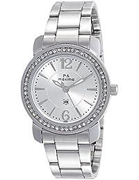 Maxima Analog Silver Dial Women's Watch-42860CMLI
