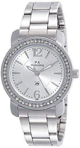 Maxima Analog Silver Dial Women's Watch - 42860CMLI