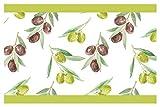 Selbstklebende Bordüre Küche Borte Oliven Wanddeko