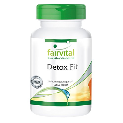 Detox Fit, 60 Kapseln, sinnvoller Detox-Komplex mit Vitaminen & natürlichen Vitalstoffen zur Unterstützung der natürlichen Fähigkeit des Körpers, Schadstoffe auszuleiten - mit Silymarin und Chlorella