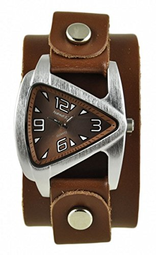 Nemesis Women's 024BGBB Small Triangle Series Analog Display Japanese Quartz Brown Watch