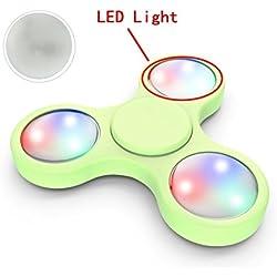 3 piezasLuz LED Para Fidget Spinner Fidget Spinner Switchali LED Ligero finger Spinner Fidget Juguete Anti Ansiedad para Niños y Jóvenes Adultos Juguete Educación Juguetes de Aprendizaje - Hand Spinner Accesorio -- barato