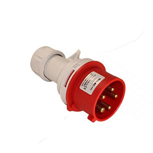 380//415 V 32 A 3P+N+T Polos Tornillo Cautivo IP44 Schneider Electric PKF32M435 PratiKa Toma M/óvil Industrial